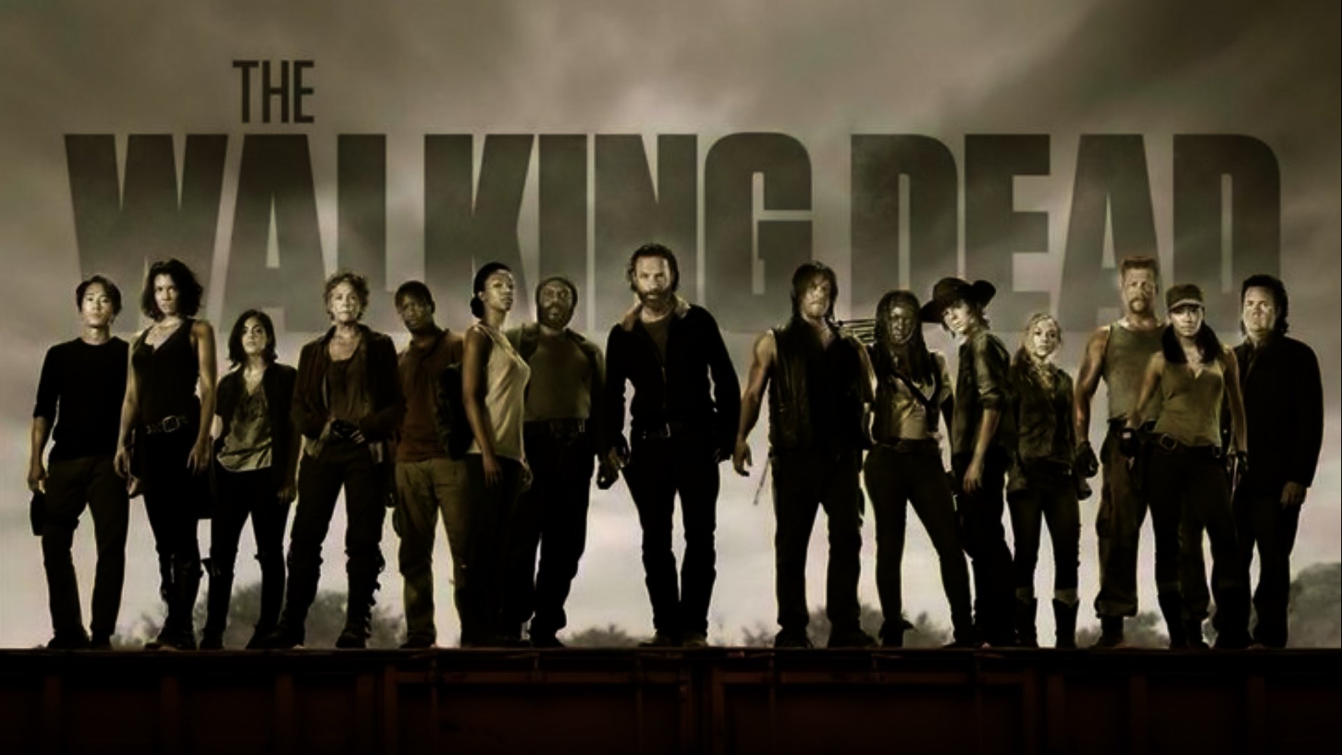 TV Show - The Walking Dead  Danai Gurira Andrew Lincoln Rick Grimes Norman Reedus Carl Grimes Michonne (The Walking Dead) Chandler Riggs Wallpaper