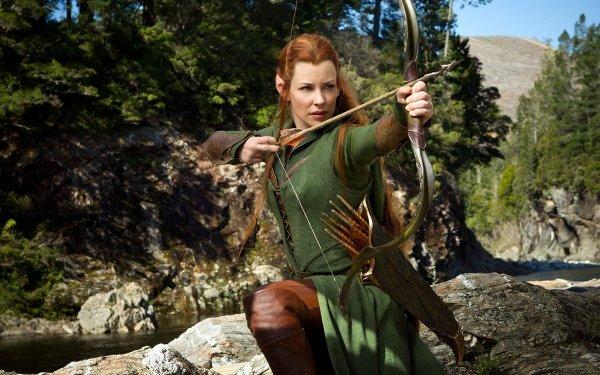 Film Le Hobbit : la Désolation de Smaug Evangeline Lilly Actress American Woman Tauriel Elfe Fond d'écran HD | Arrière-Plan