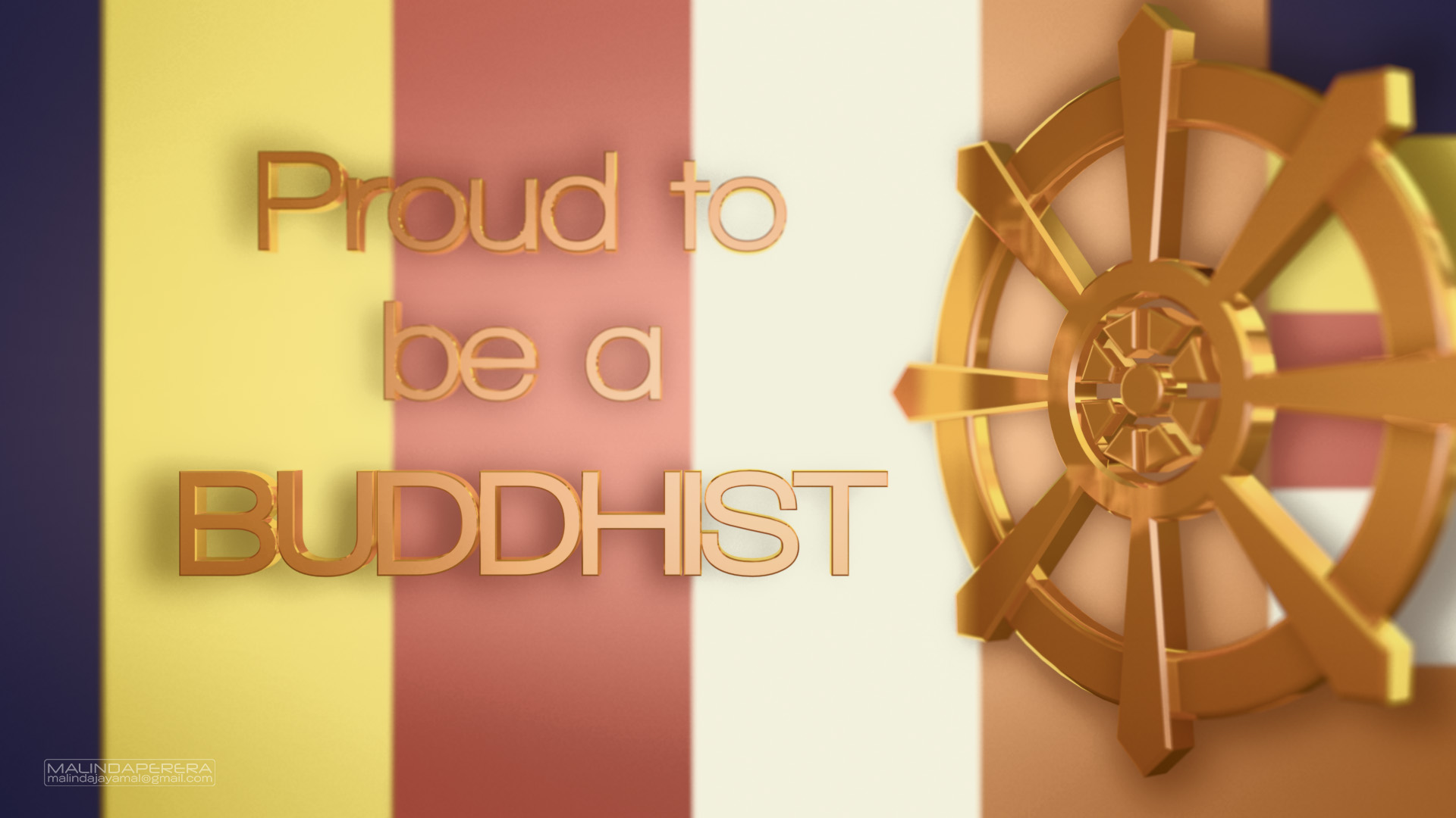 Proud To Be A Buddhist HD Wallpaper