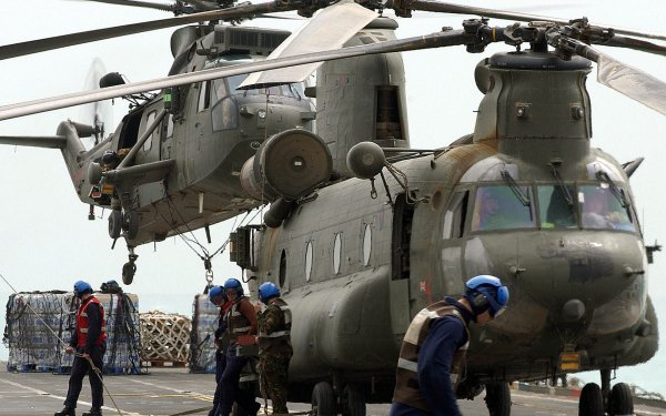 Military Boeing Vertol CH-46 Sea Knight Military Helicopters HD Wallpaper | Background Image