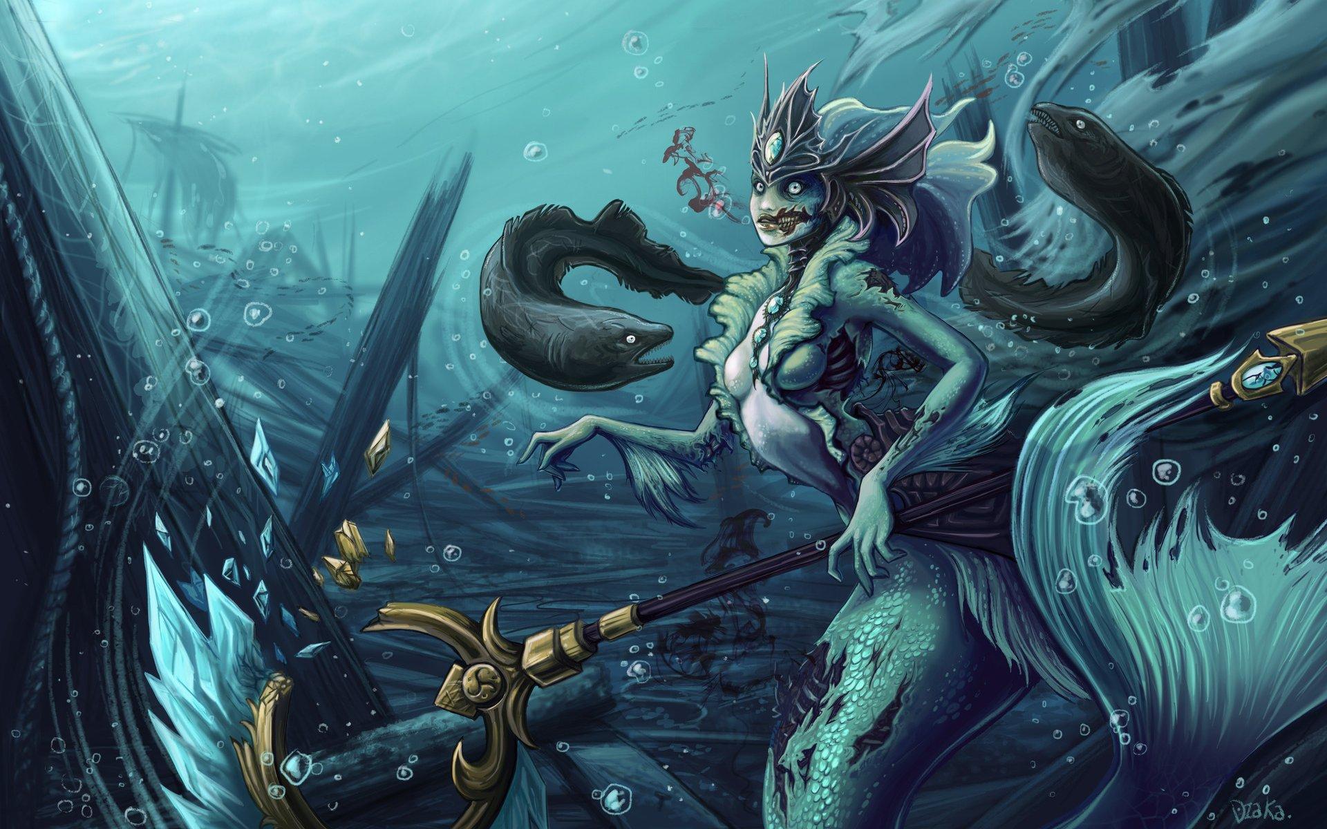 Nami The Zombie Mermaid League Of Legends Fondo De