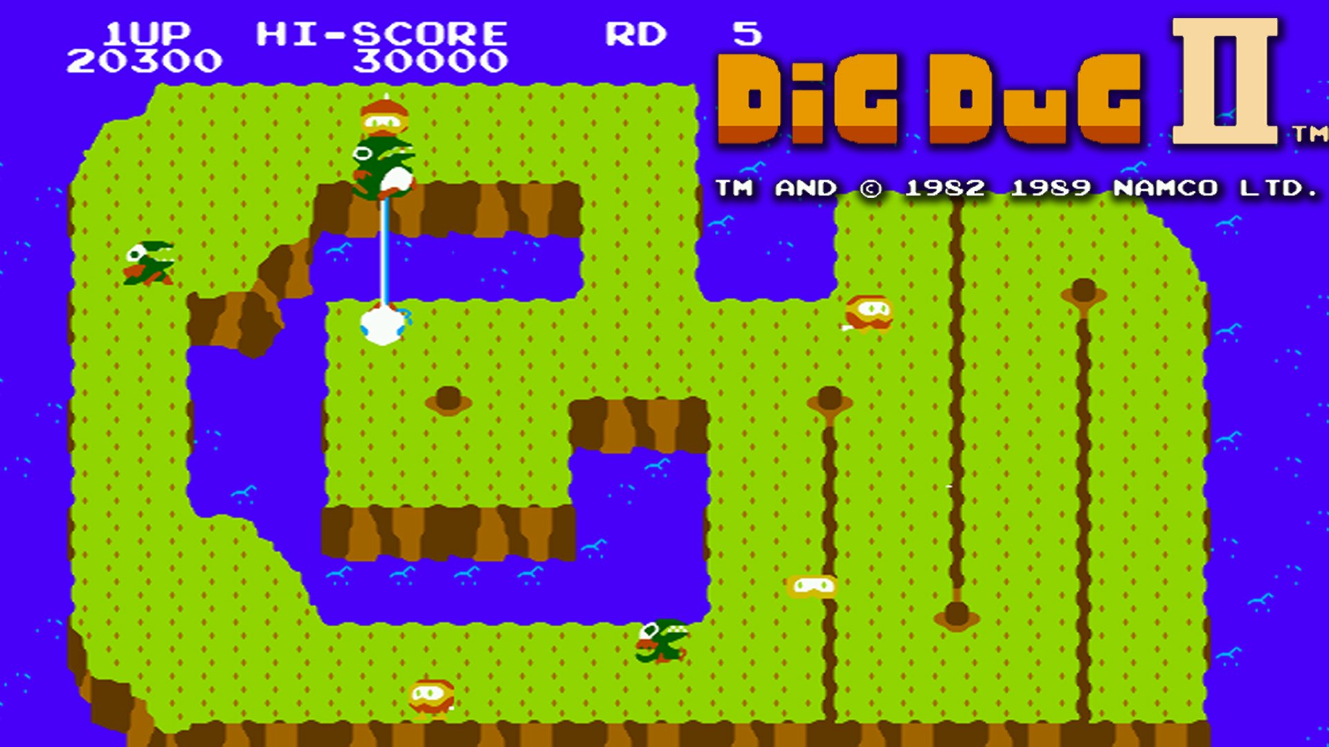 Dig Dug Ii Trouble In Paradise Hd Wallpaper Background Image