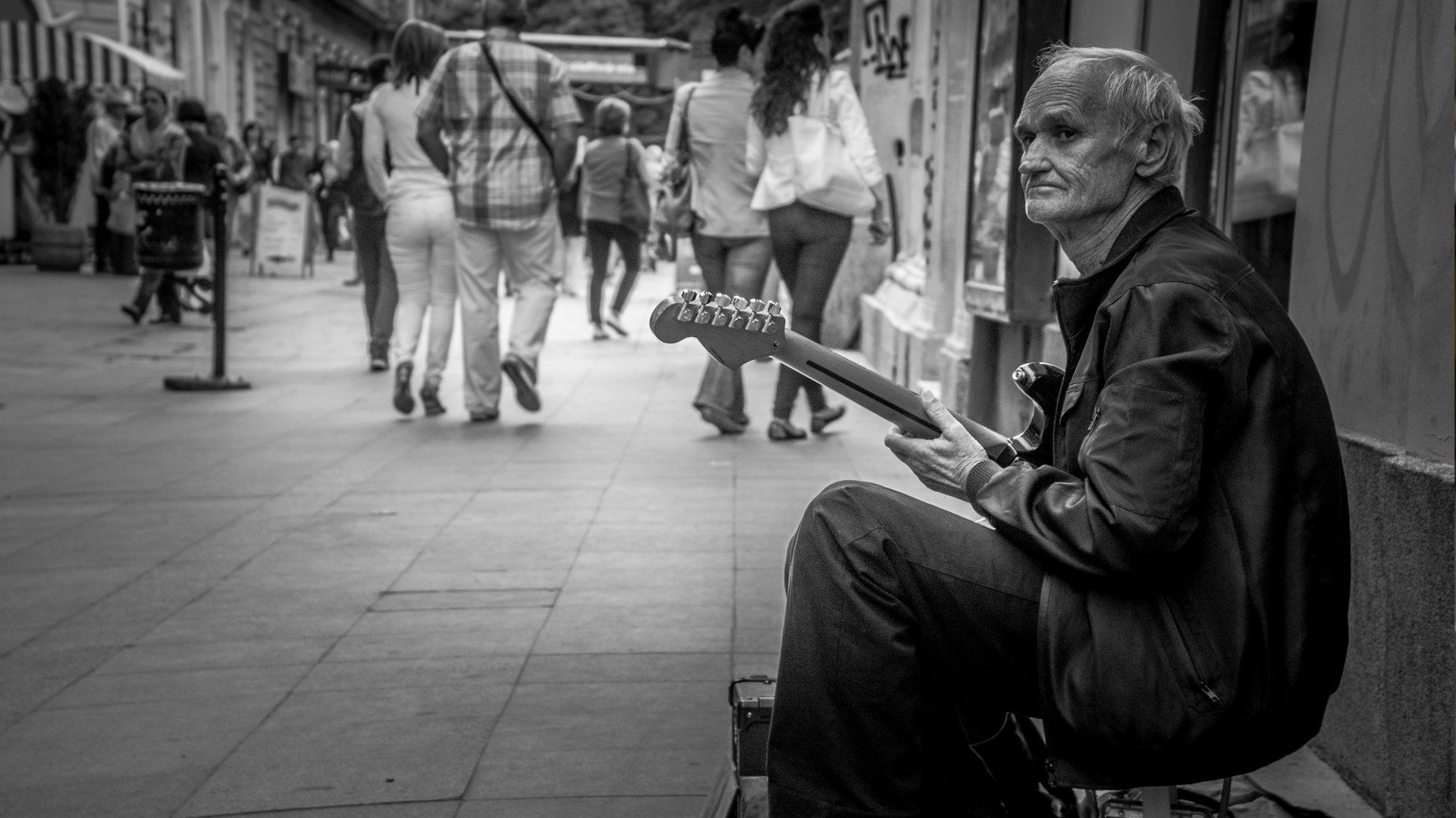 Fotografia - Pessoa  Guitarra Portrait Papel de Parede