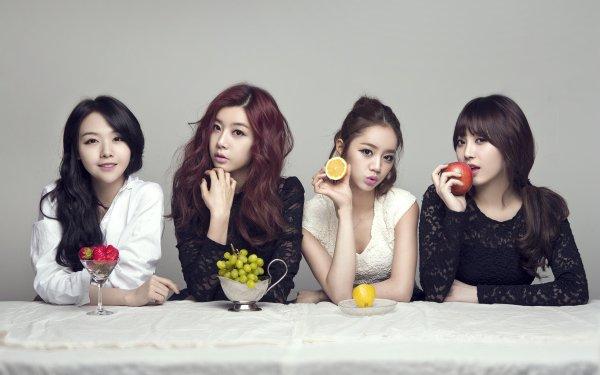 Music Girl's Day Band (Music) South Korea Asian Korean K-Pop Strawberry Grapes Lemon Apple HD Wallpaper | Background Image