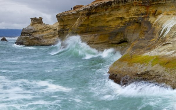 Earth Coastline Oregon Pacific Ocean Wave HD Wallpaper | Background Image