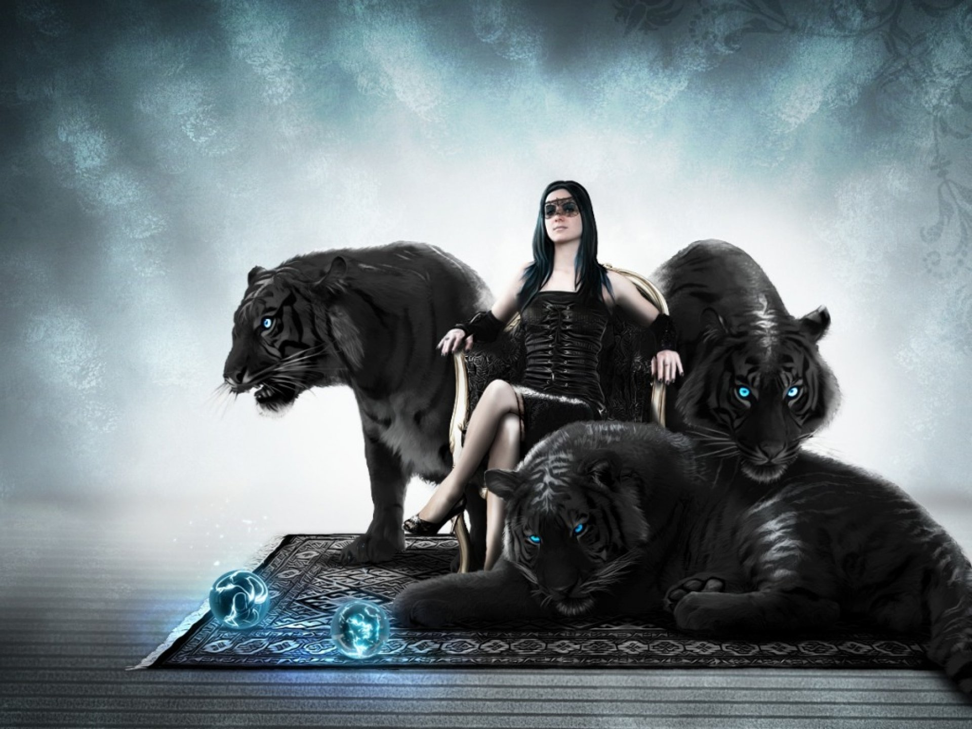 Black Tiger Hd Wallpaper Background Image 1920x1440 Id 587448 Wallpaper Abyss