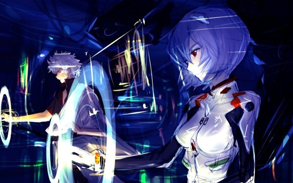 Anime Crossover Rei Ayanami Gintama Neon Genesis Evangelion Gintoki Sakata HD Wallpaper | Background Image