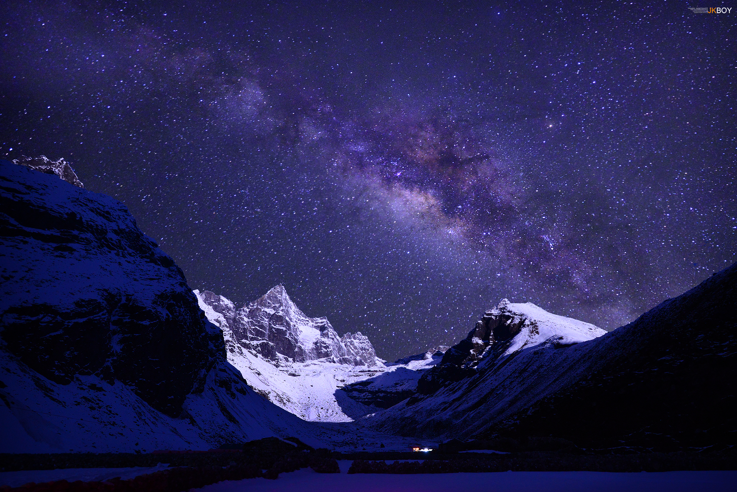 Himalayas Night at Everest region Full HD Wallpaper and ...