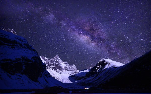 Earth Himalayas Mountains Mount Everest Nepal Night HD Wallpaper | Background Image