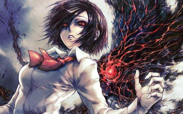Anime Tokyo Ghoul Touka Kirishima Red Eyes Kagune Short Hair Tie Fond d'écran HD | Image