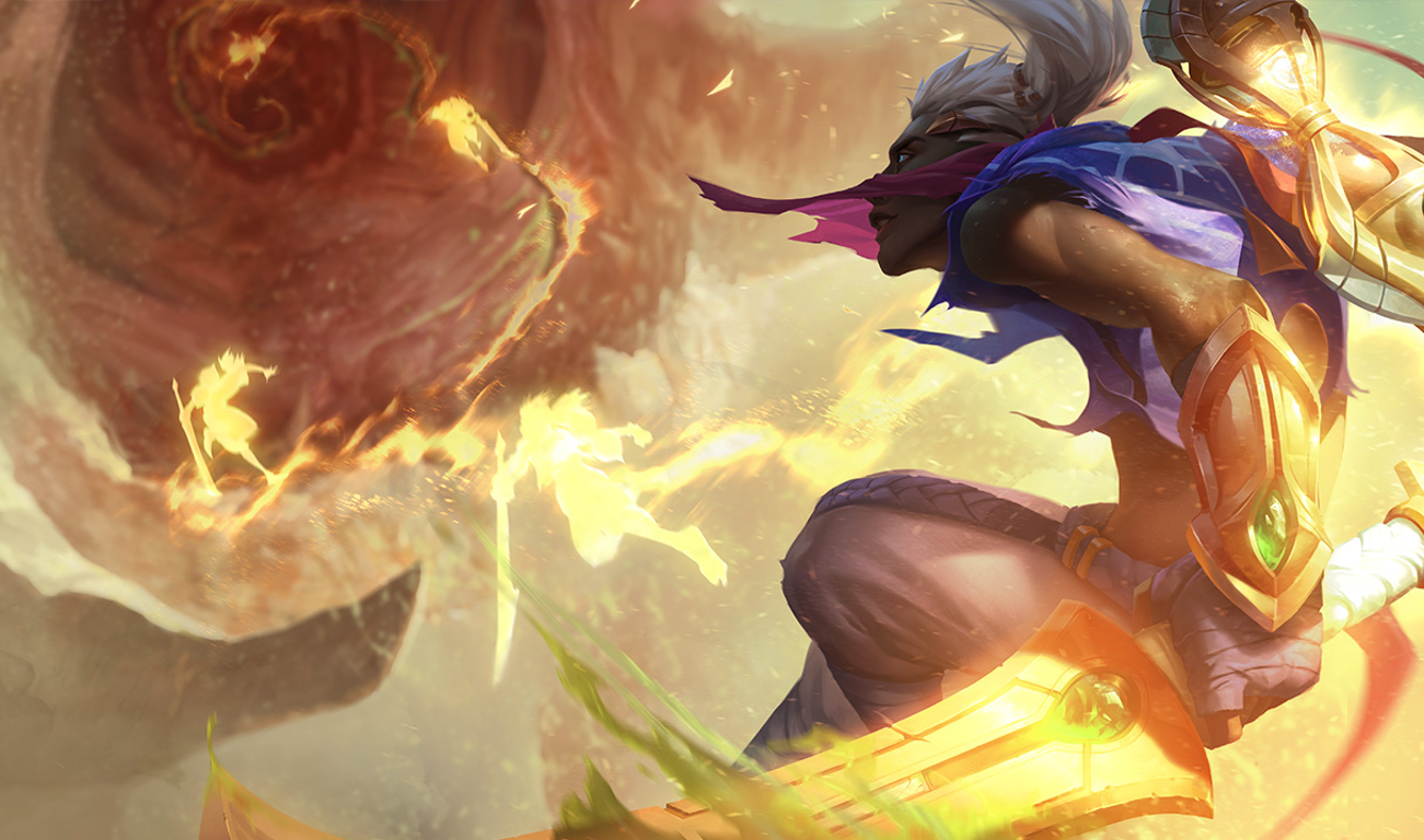 Video Game - League Of Legends  Sword Sand Ekko (League of Legends) Wallpaper