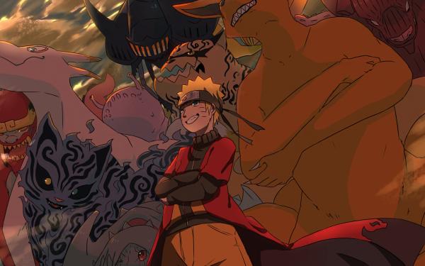 Anime Naruto Kurama Naruto Uzumaki HD Wallpaper | Hintergrund