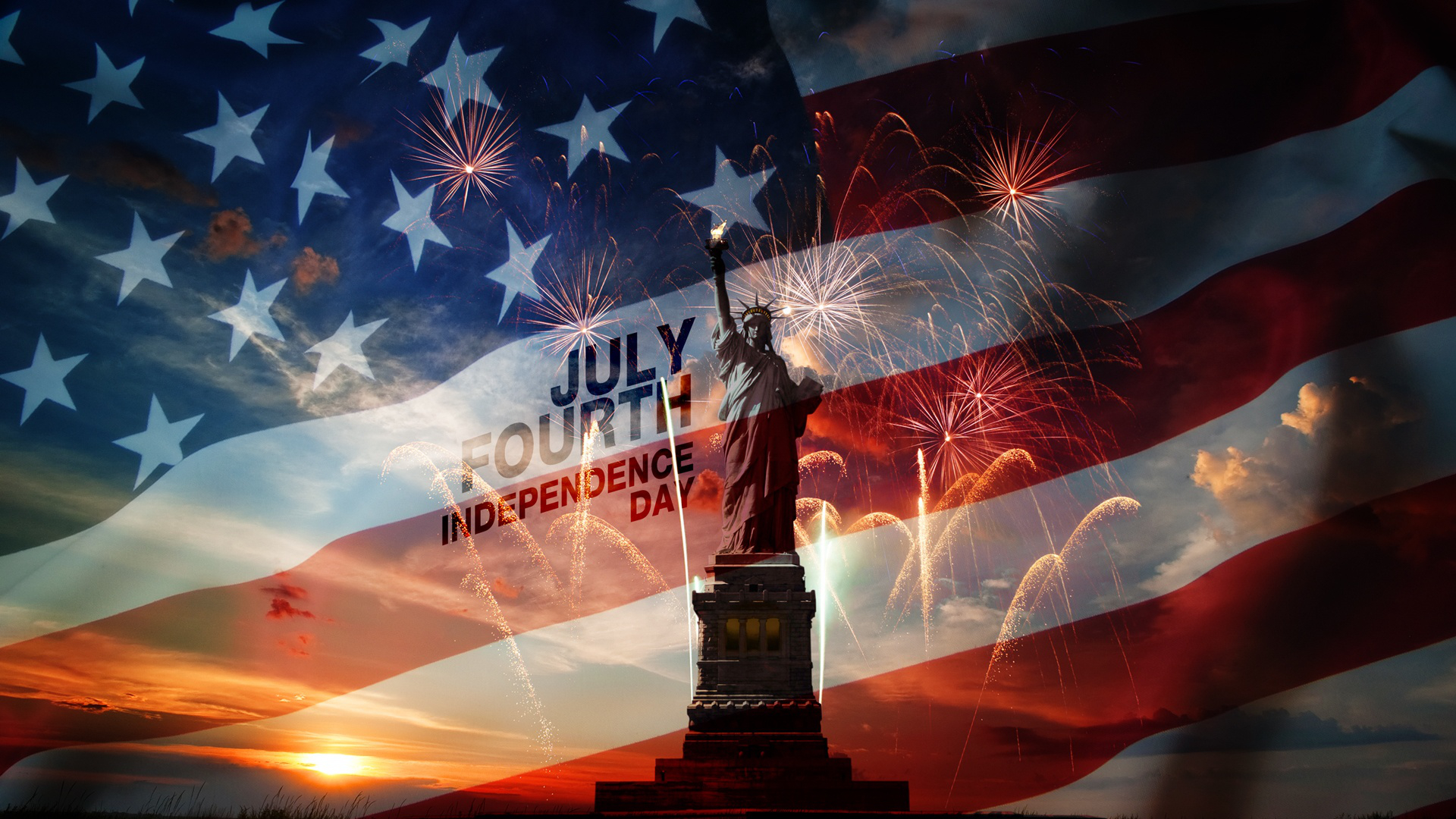 Jour De Lindépendance états Unis Fond Décran Hd