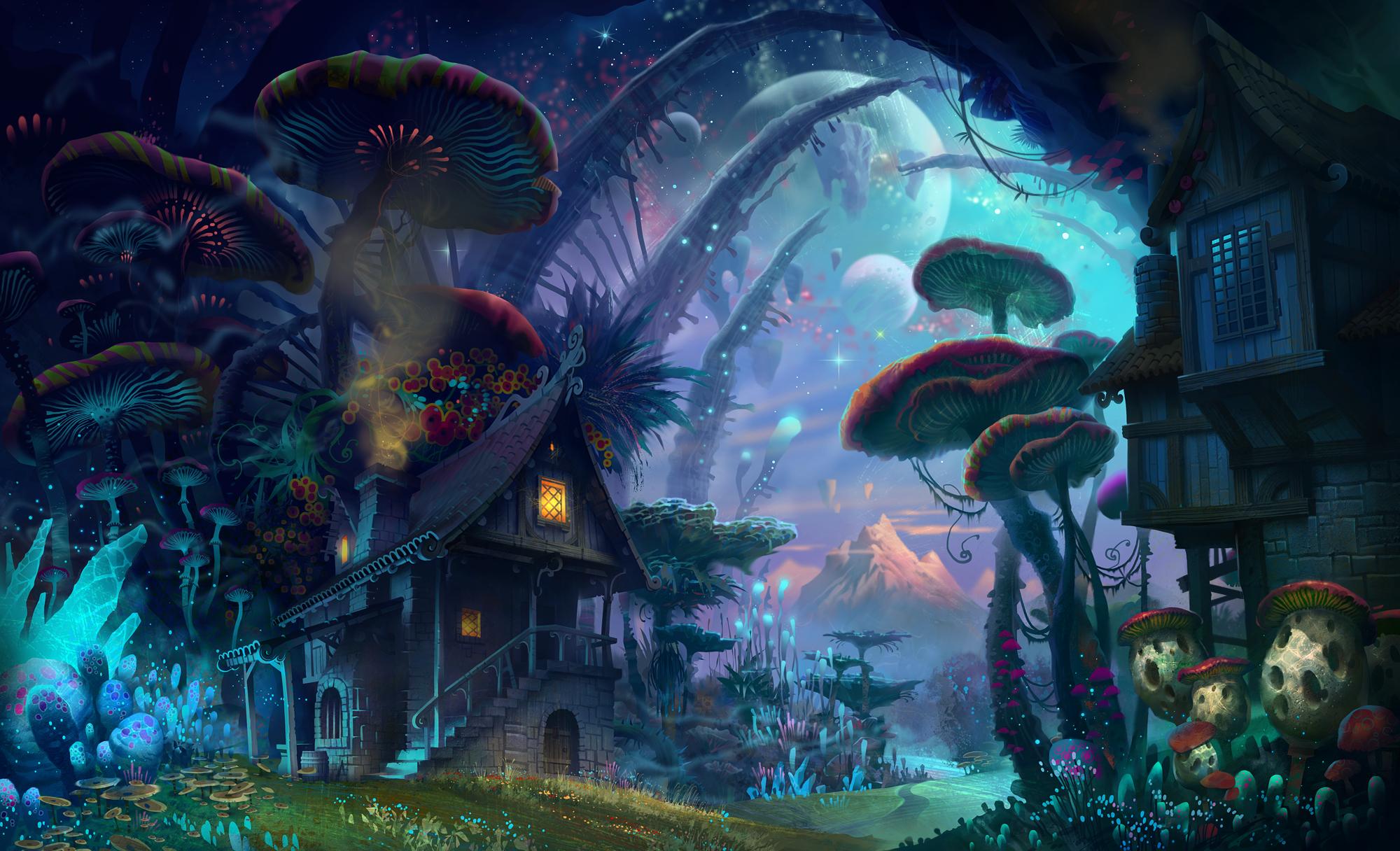 Magic Mushrooms Live Wallpaper Download - Magic Mushrooms Live ...