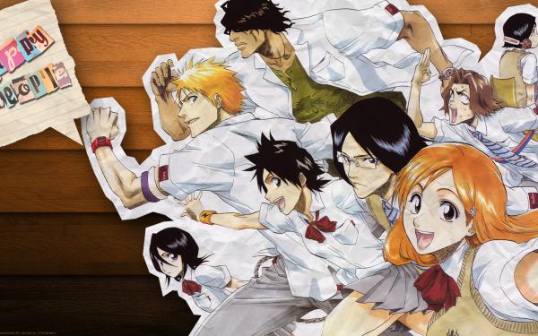 Anime Bleach Ichigo Kurosaki Orihime Inoue Yasutora Sado Rukia Kuchiki Uryu Ishida Keigo Asano Mizuiro Kojima Tatsuki Arisawa HD Wallpaper | Background Image