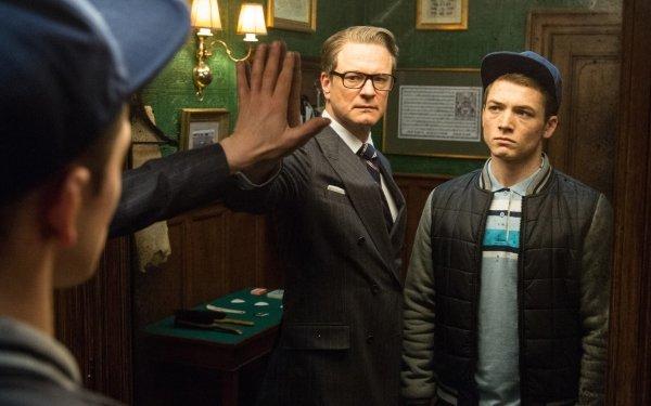 Movie Kingsman: The Secret Service Colin Firth Taron Egerton HD Wallpaper | Background Image
