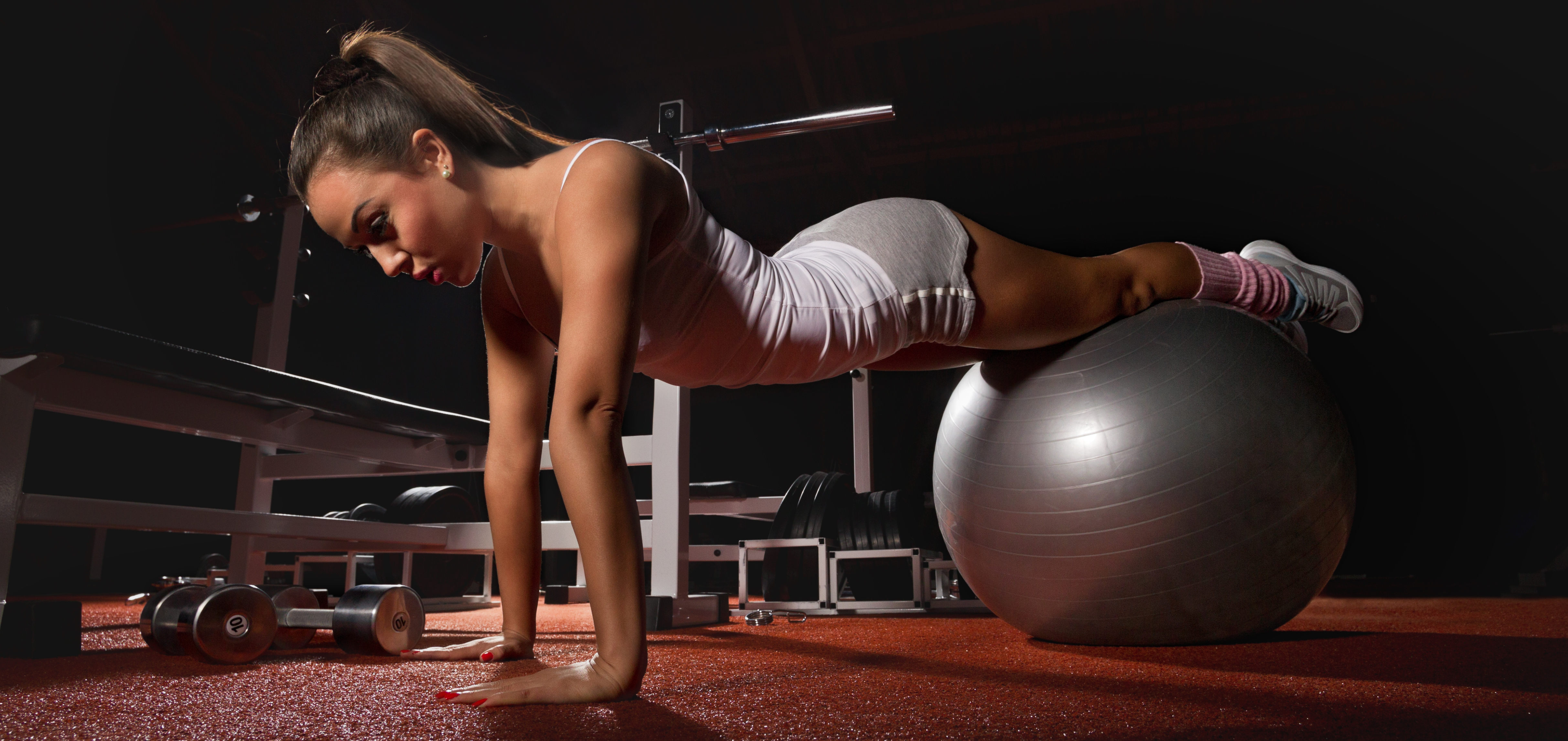 fitness girl 4k ultra hd wallpaper background image 4850x2292