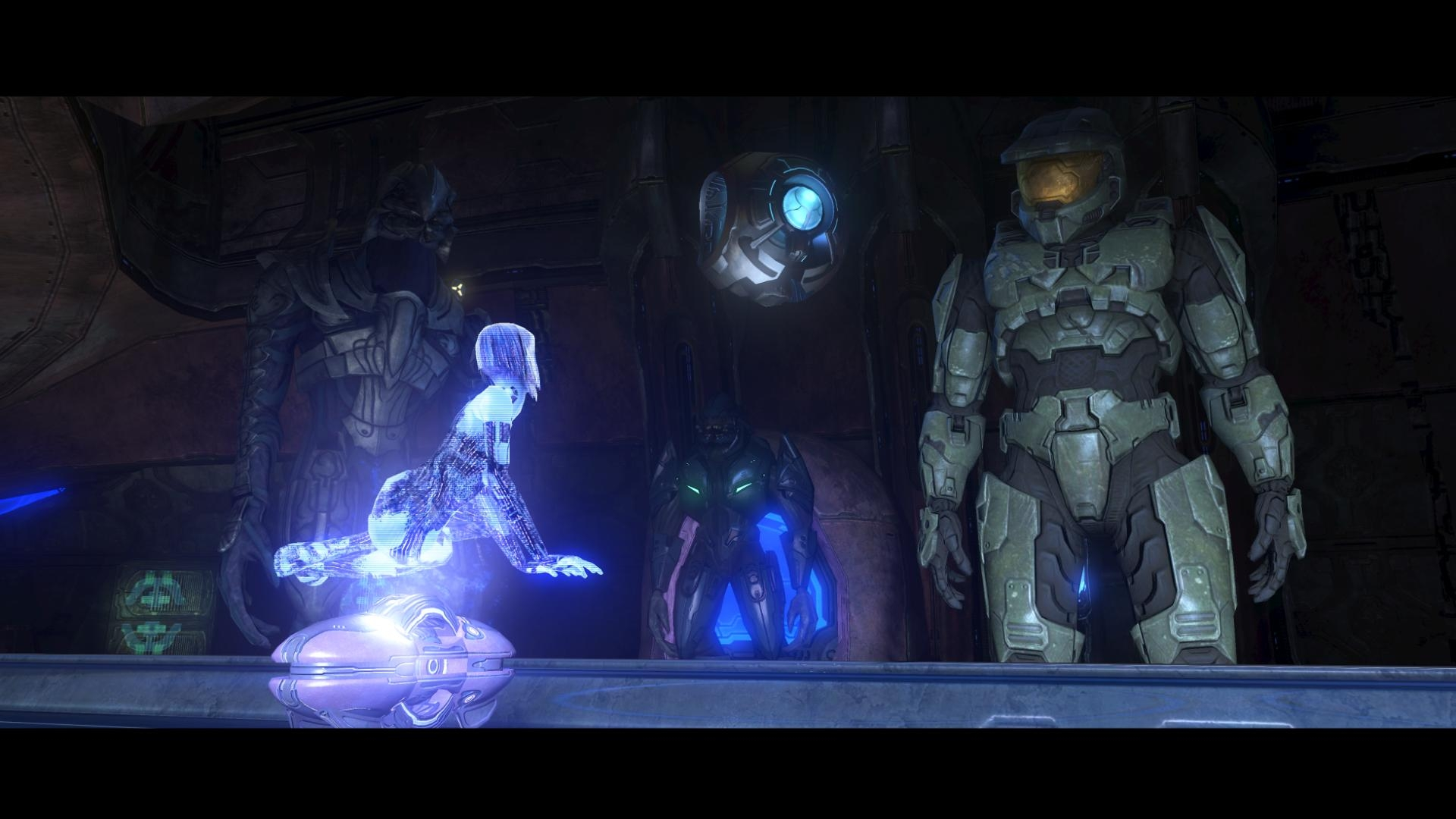 Cortana And Master Chief Full HD Wallpaper Background Image