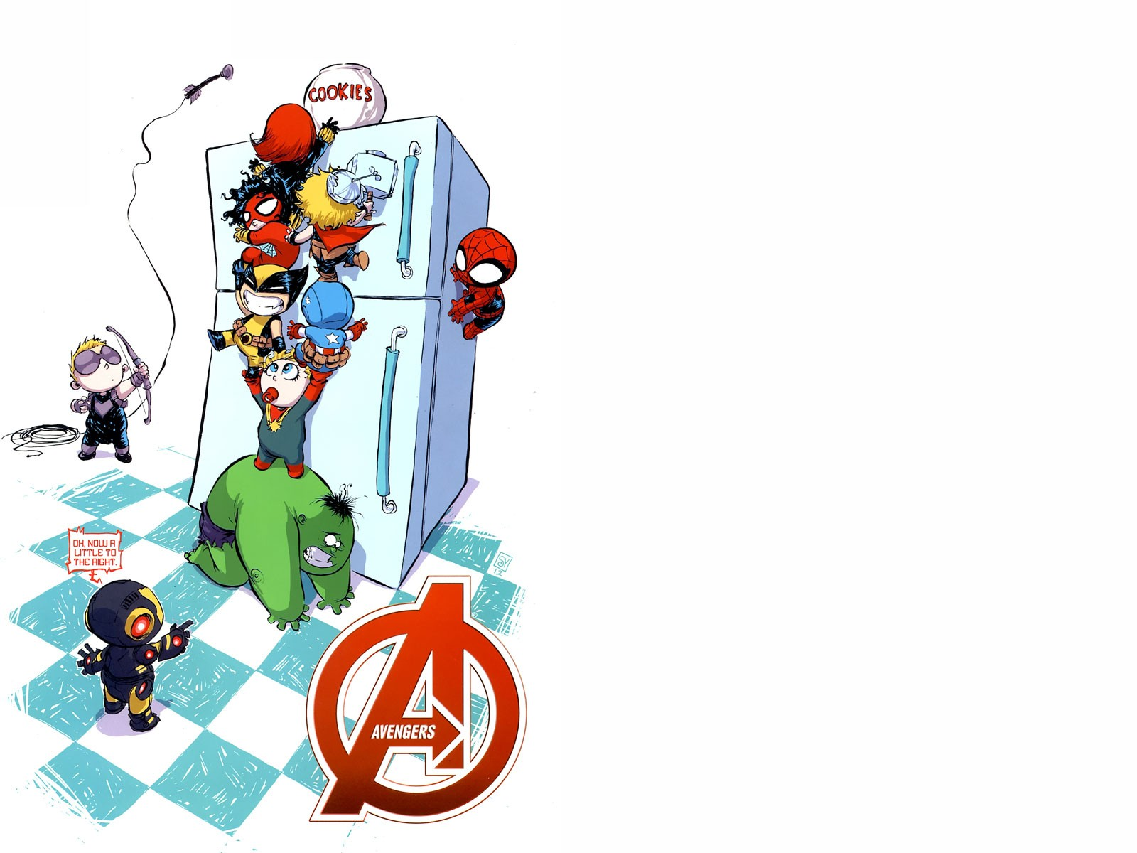 baby avengers cookie time wallpaper and background