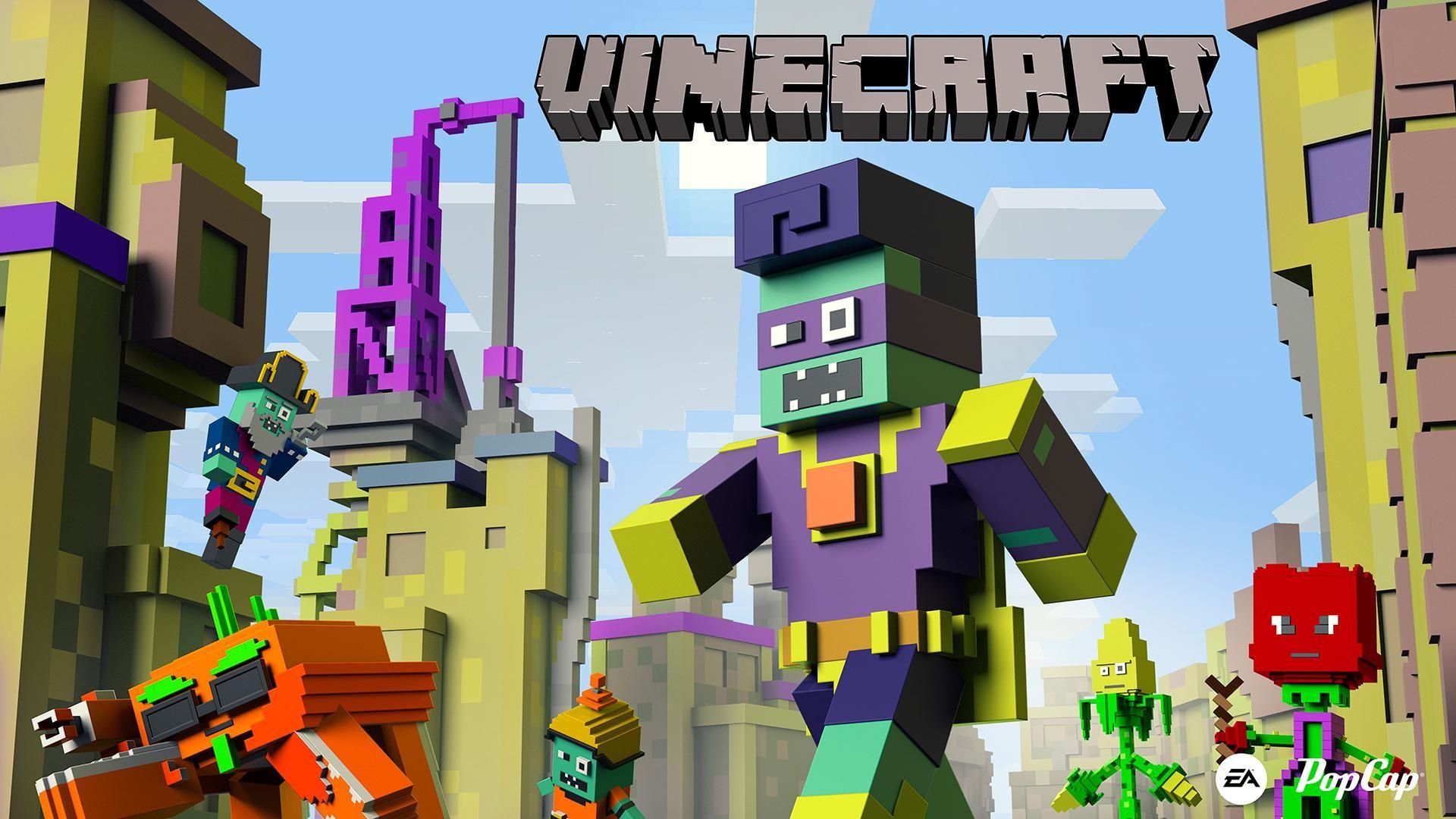 Minecraft Pvz Spoof Parody Full Hd Wallpaper And Background 1920x1080 Id 609548