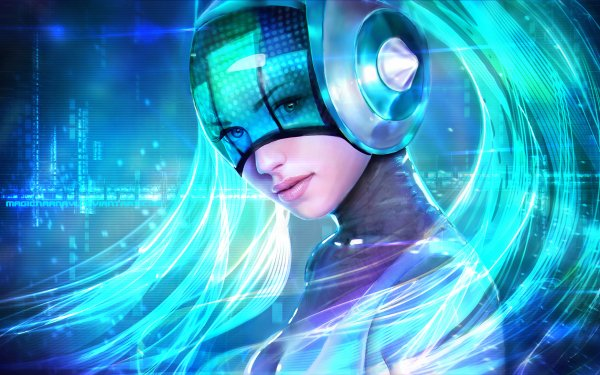 Video Game League Of Legends Sona Fantasy Blue Hair Futuristic HD Wallpaper | Background Image