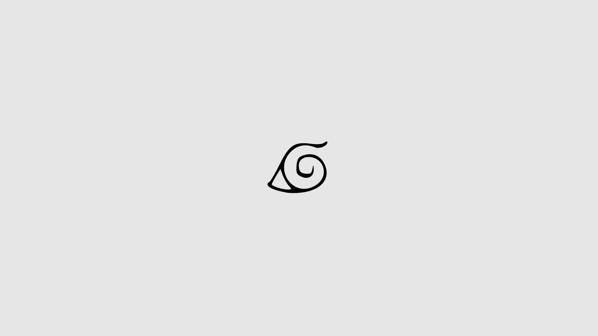 Anime - Naruto  Minimalist Logo Wallpaper