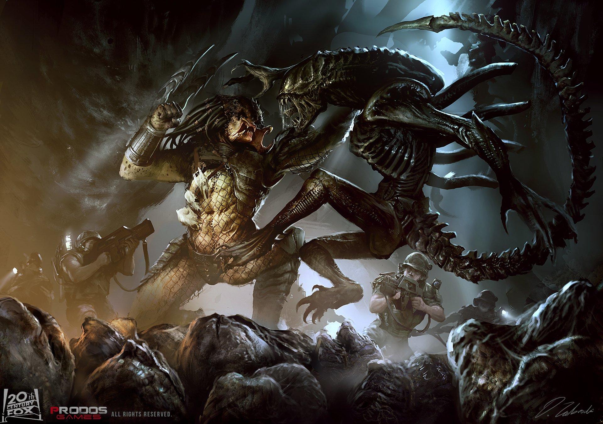 Aliens Vs. Predator Full HD Fond d'écran and Arrière-Plan | 1920x1349 | ID:610427