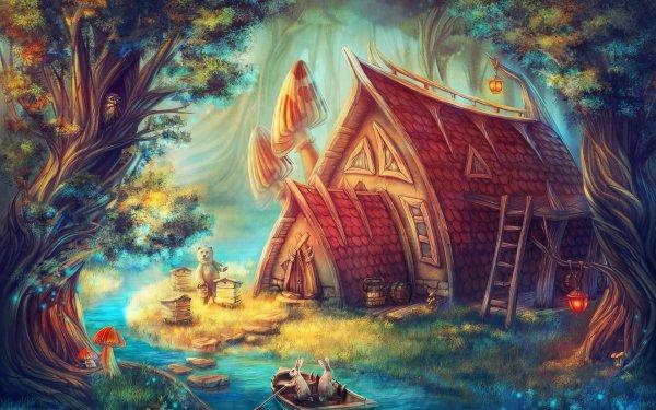 Fantasy Fairy Tale HD Wallpaper   Background Image