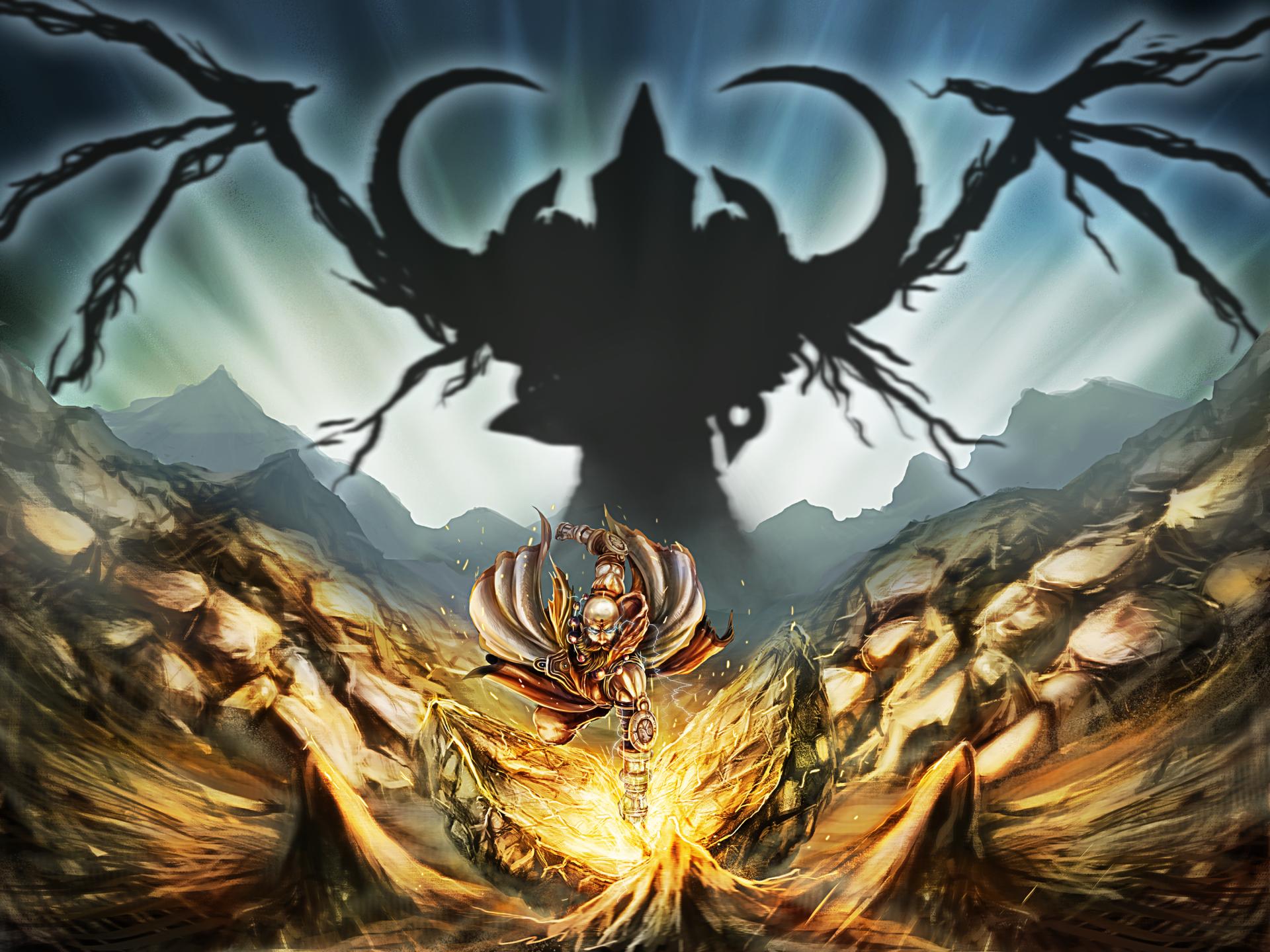 Video Game - Diablo III: Reaper Of Souls  Monk (Diablo III) Malthael (Diablo III) Wallpaper