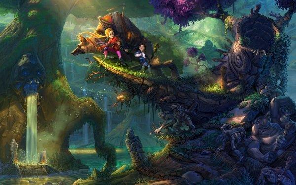 Fantasy Fairy Tale Forest Adventurer Goblin HD Wallpaper | Background Image