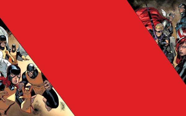 Comics avengers vs. X-Men X-Men Warren Worthington III Black Widow Hawkeye Captain America Thor Angel Cyclops Iceman Marvel Girl Beast Marvel Comics Avengers Jean Grey Clint Barton HD Wallpaper | Background Image