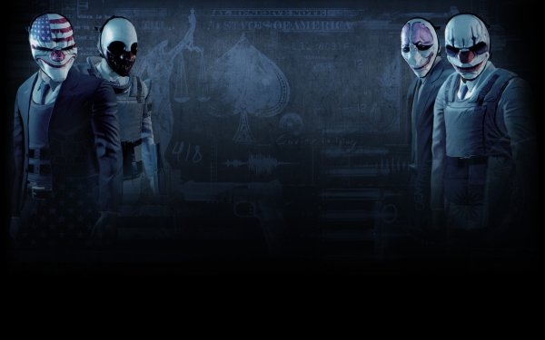Video Game Payday 2 Payday Dallas Wolf Houston Chains HD Wallpaper | Background Image