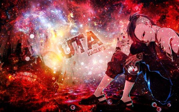 Anime Tokyo Ghoul Uta Boy Sitting Tattoo Red Eyes Eyeball HD Wallpaper | Background Image