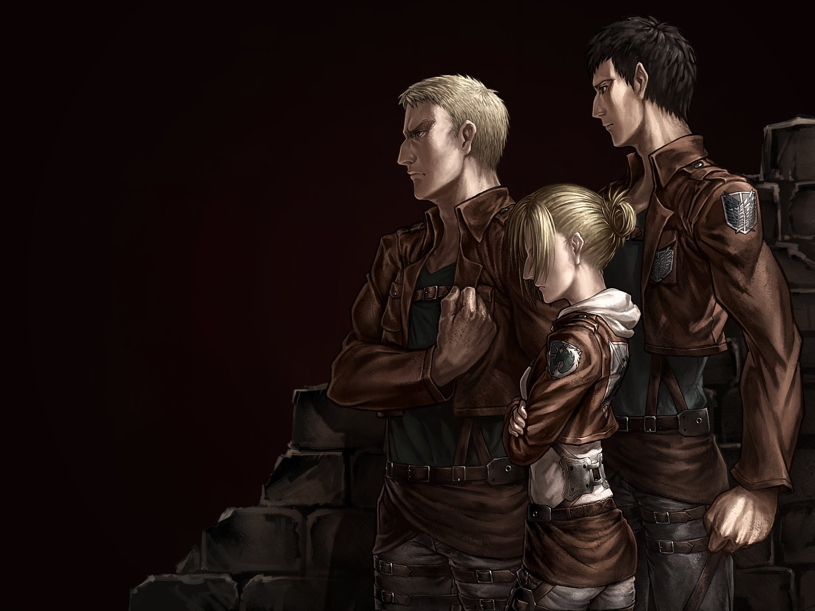 Anime - Attack On Titan  Bertolt Hoover Annie Leonhart Reiner Braun Wallpaper