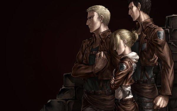 Anime Attack On Titan Reiner Braun Annie Leonhart Bertolt Hoover HD Wallpaper | Background Image