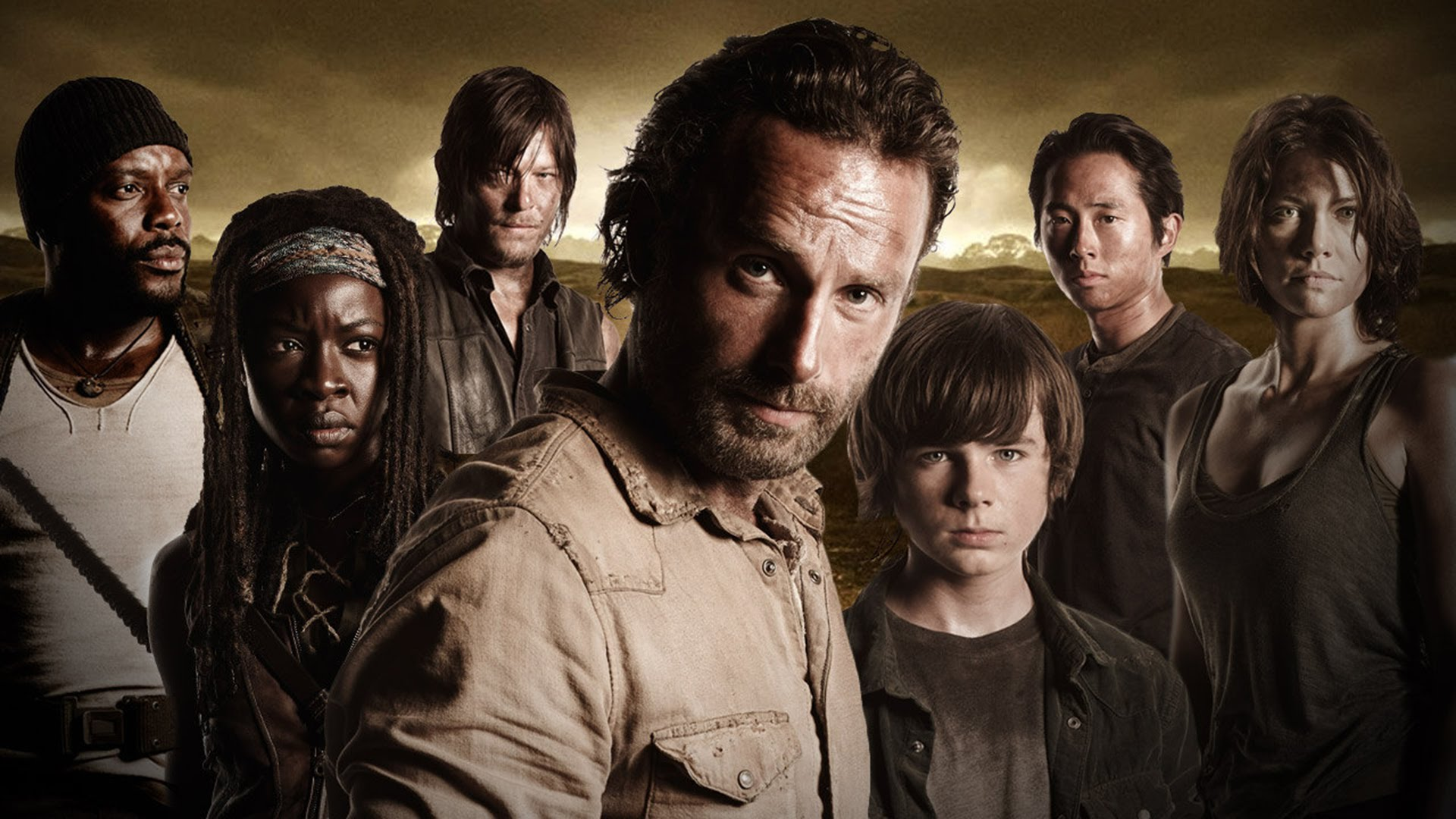 Main Cast Of The Walking Dead Hd Wallpaper Background Image