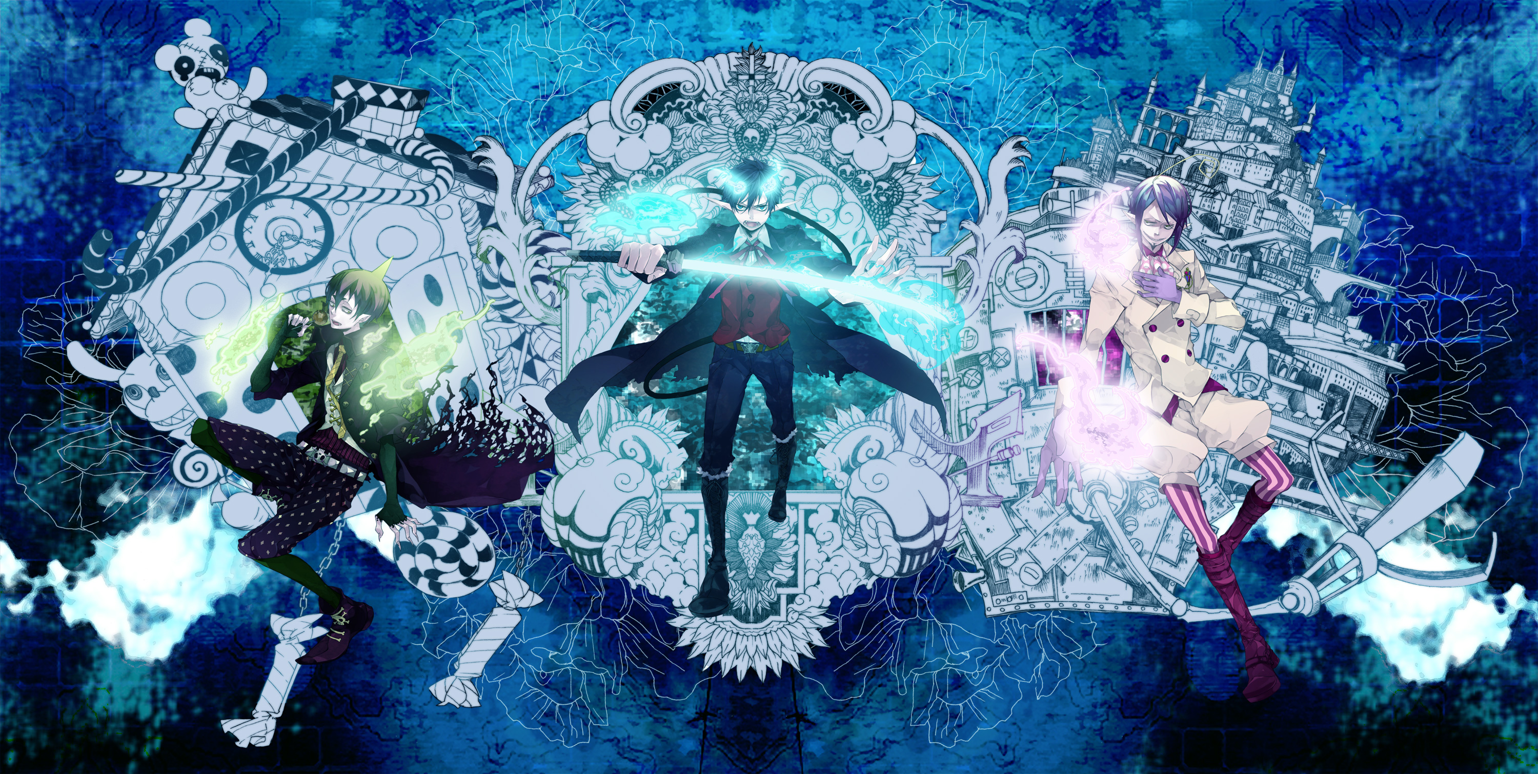 290 Blue Exorcist Hd Wallpapers Background Images Wallpaper Abyss