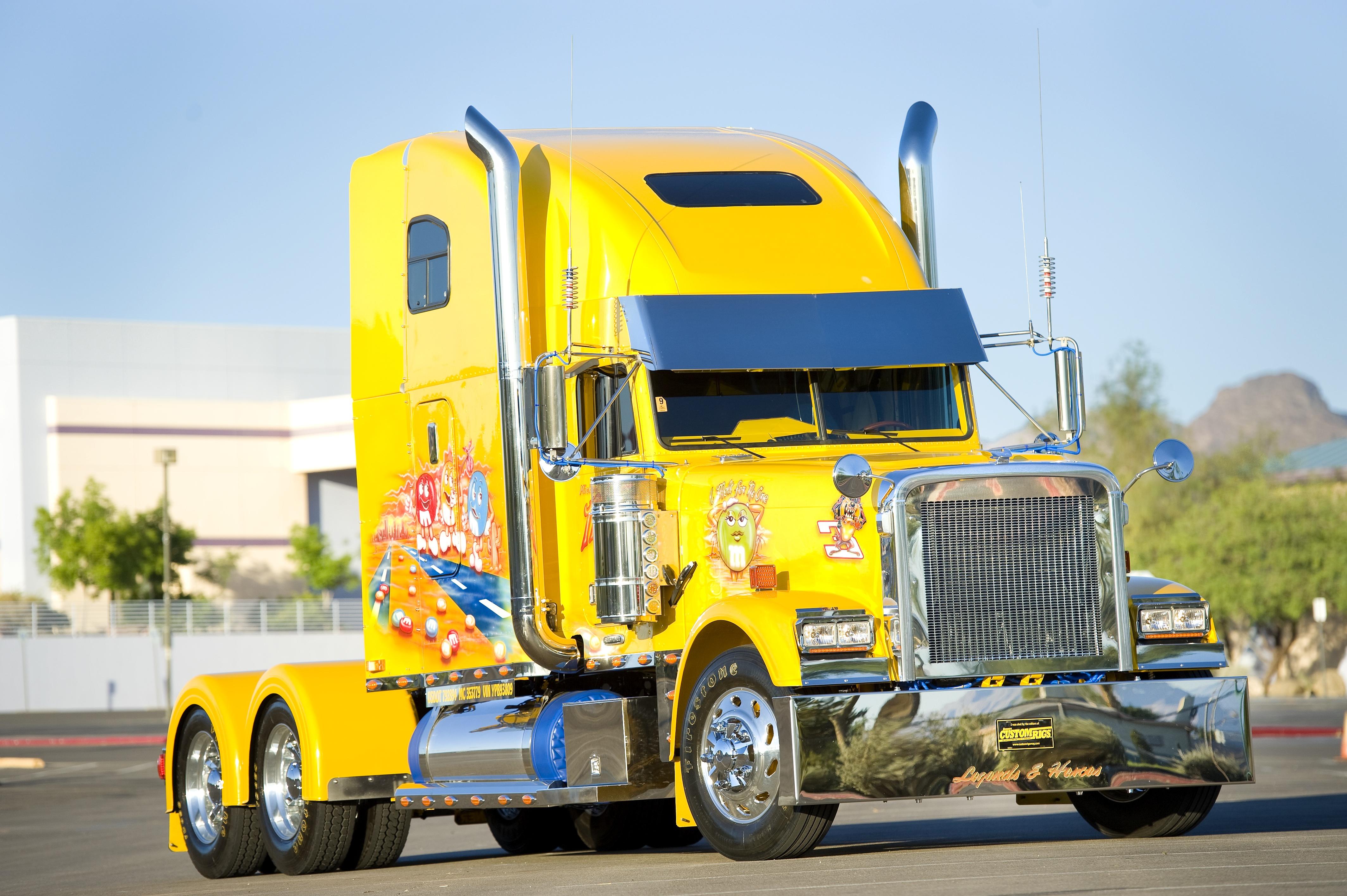 желтый грузовик  № 204755 загрузить
