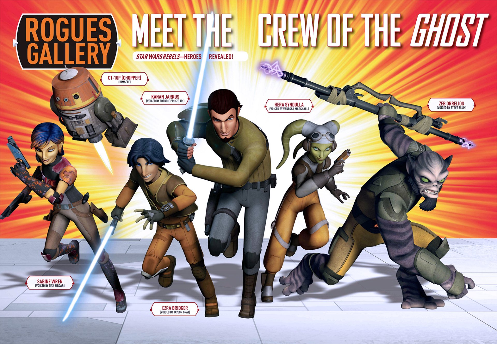 TV Show - Star Wars Rebels  C1-10P(Chopper) Kanan Jarrus Hera Syndulla Zeb Orrelios Sabine Wren Ezra Bridger Wallpaper
