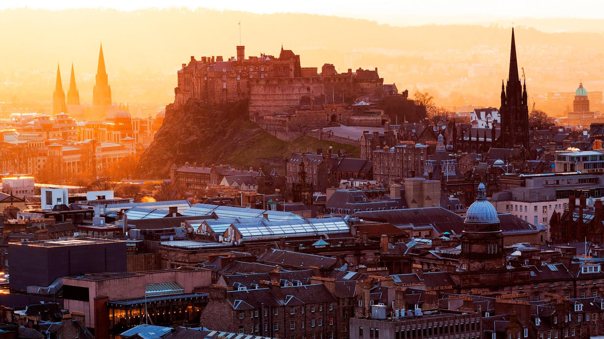 Обои замок, холм, эдинбург, edinburgh, Шотландия. Пейзажи foto 18