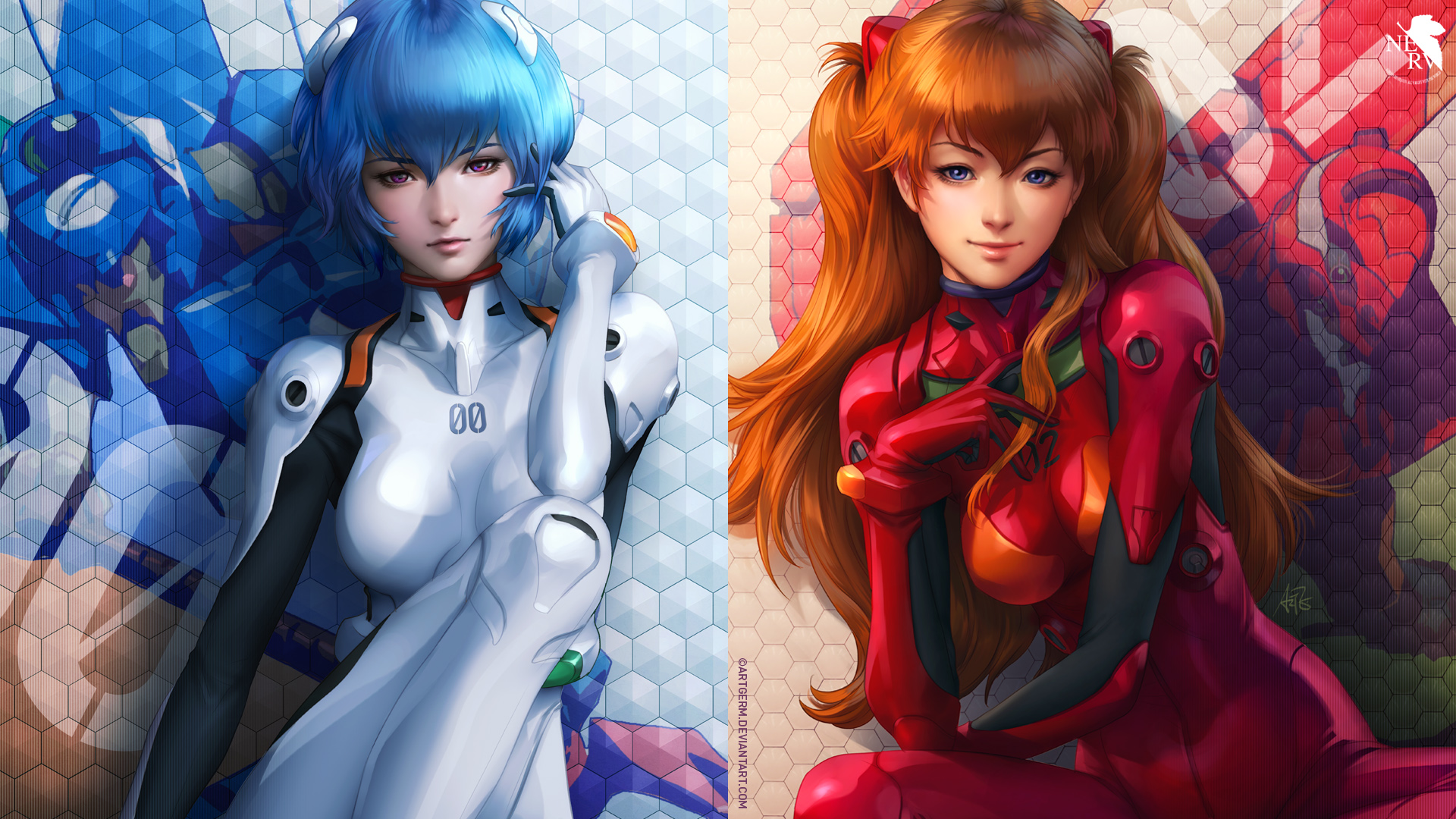 rei and asuka hd wallpaper background image 1920x1080