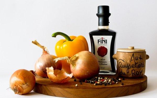 Food Still Life Onion Pepper Capsicum HD Wallpaper | Background Image