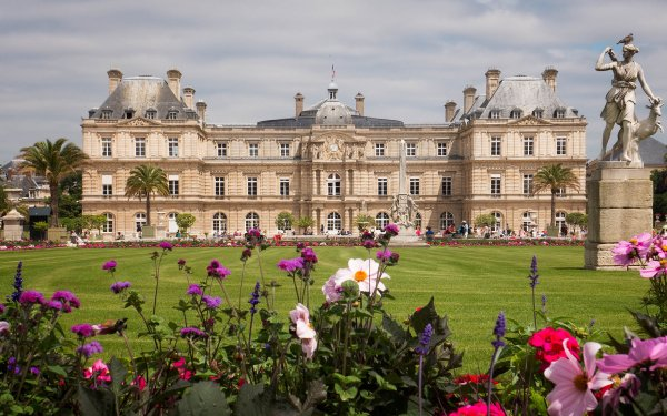 Man Made Luxembourg Palace Palaces France Building Flower Garden Paris Statue Senate HD Wallpaper   Background Image