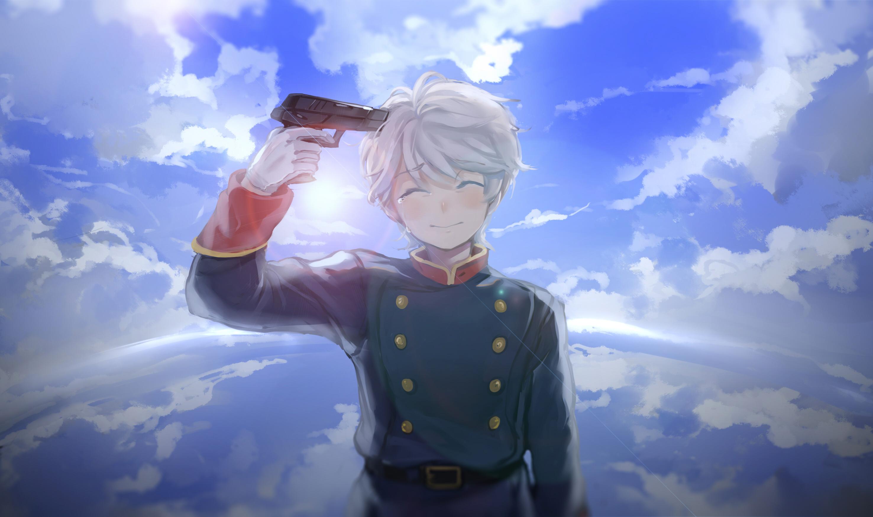 Аниме парень с пистолетом