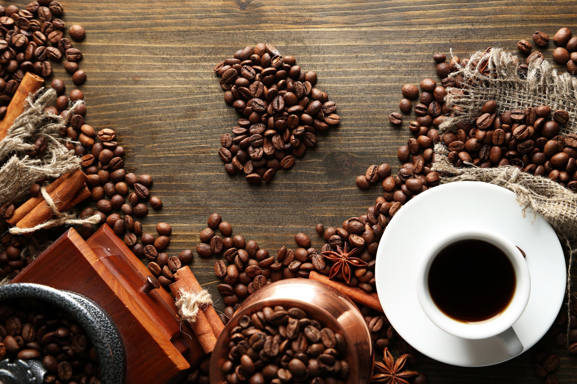 Food - Coffee  Coffee Beans Cup Wallpaper