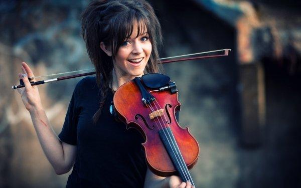 Music Lindsey Stirling Brunette Violin HD Wallpaper | Background Image