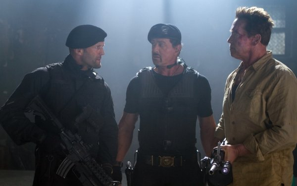 Movie The Expendables 2 The Expendables Barney Ross Sylvester Stallone Arnold Schwarzenegger Trench Lee Christmas Jason Statham HD Wallpaper | Background Image
