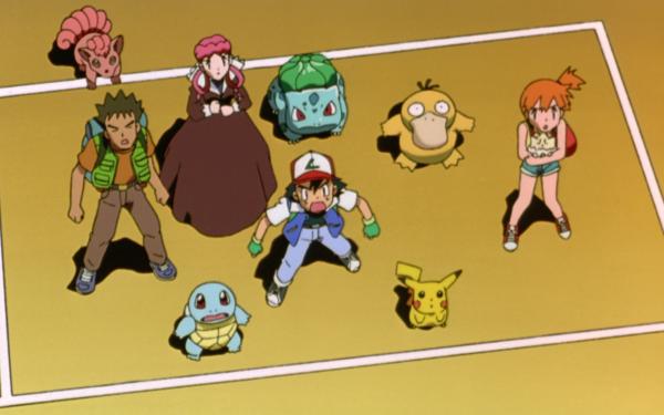 Anime Pokémon, le film : Mewtwo contre-attaque Pokémon Bulbasaur Vulpix Nurse Joy Psyduck Brock Misty Ash Ketchum Pikachu Fond d'écran HD | Arrière-Plan