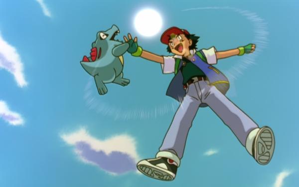Anime Pokemon 3: The Movie - Spell of the Unown Pokémon Totodile Ash Ketchum Fond d'écran HD | Arrière-Plan