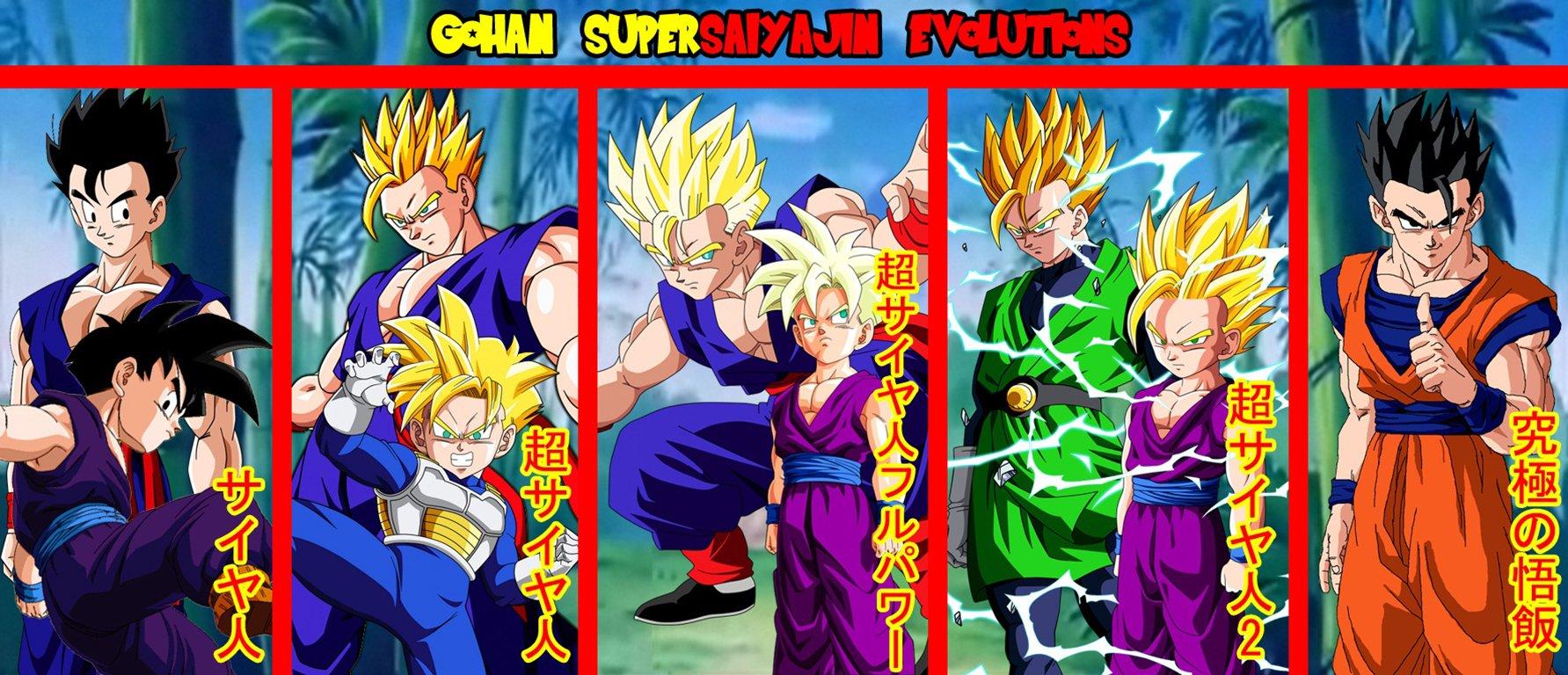 Goku Ssj Dios Para Fondo De Pantalla: Gohan Supersaiyajin Evolutions Papel De Parede And Planos